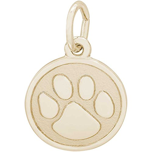 Rembrandt Charms Tiger Paw Charm, Gold Plated Silver